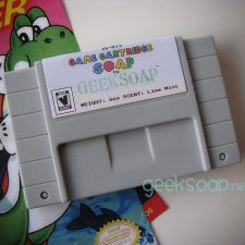 Nintendo SNES game cartridge geek soap by GEEKSOAP.net