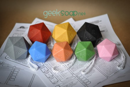 all D20 soap on a roap by GEEKSOAP colors