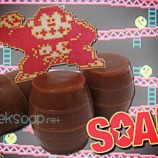 Donkey Kong barrel geek soap by GEEKSOAP.net