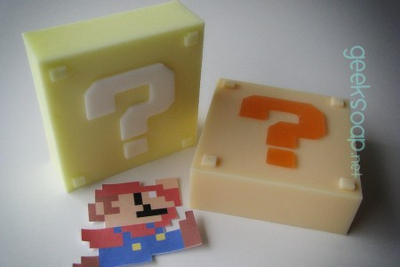 Super Mario Bros. mystery block geek soap by GEEKSOAP.net