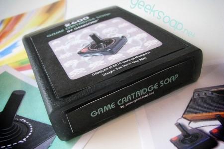 atari 2600 game cartridge geeksoap soap by GEEKSOAP.net
