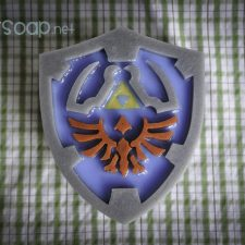 Zelda Hyrule Shield geek soap by GEEKSOAP.net