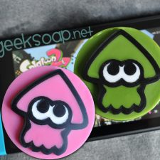 pink and green inkling Splatoon geeky soap by GEEKSOAP.net
