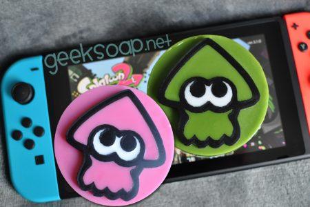 pink and green inkling Splatoon geeky soap by GEEKSOAP.net
