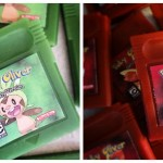 Custom baby shower gameboy handheld game cartridge soap favors by GEEKSOAP.net
