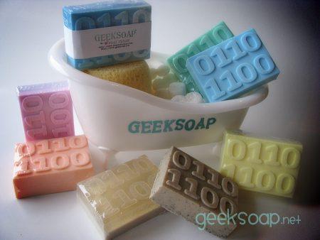 binary geek soap bar by GEEKSOAP.net