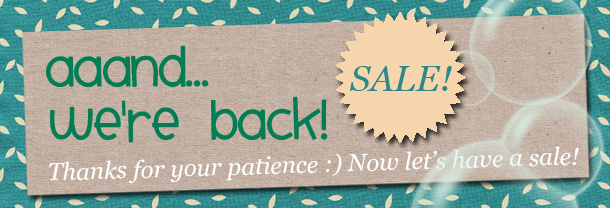 Back from Maternity Leave! Time for a SALE-ebration!