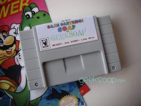 Nintendo SNES game cartridge geek soap by GEEKSOAP.net