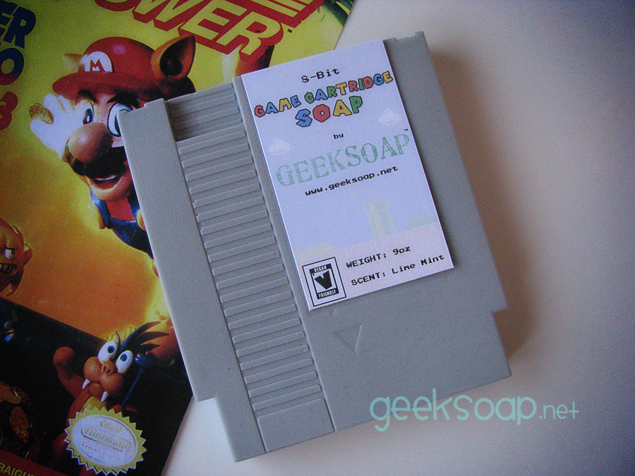 Nintendo NES game cartridge geek soap by GEEKSOAP.net