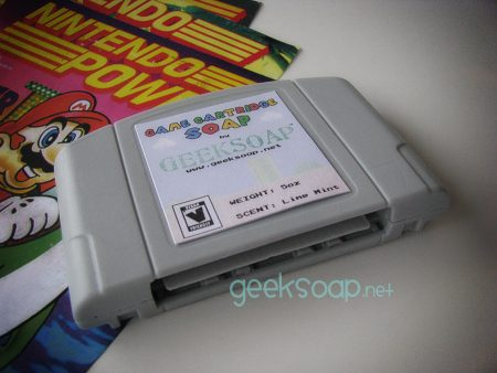 Nintendo N64 game cartridge geek soap by GEEKSOAP.net