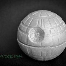 Death Star 3D spherical geek soap by GEEKSOAP.net