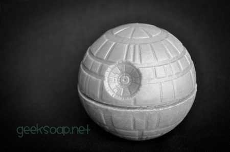 Death Star 3D spherical geek soap by GEEKSOAP.net