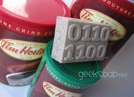 binary geek soap - oatmeal coffee massage geek soap binary bar by GEEKSOAP.net