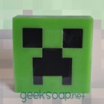 Minecraft Creeper soap by GEEKSOAP.net