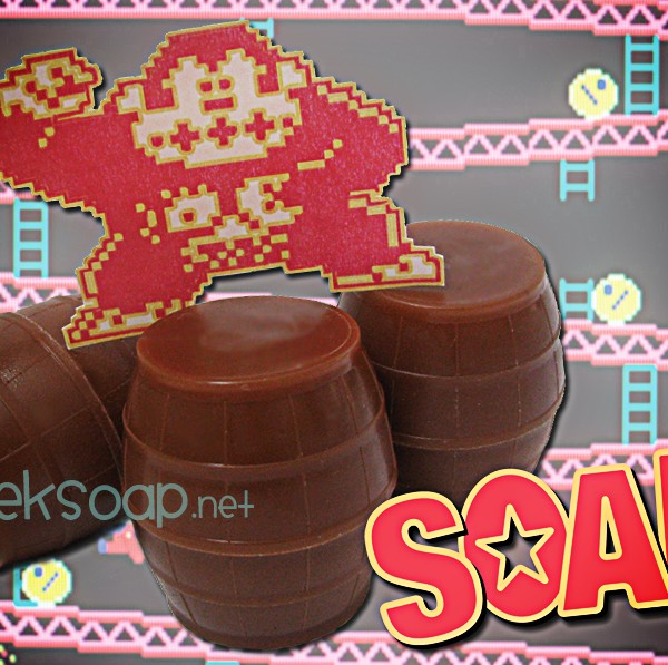 Donkey Kong barrel geek soap by GEEKSOAP.net