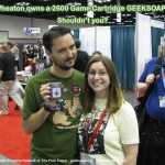 atari 2600 game cartridge soap by GEEKSOAP.net with Wil Wheaton!