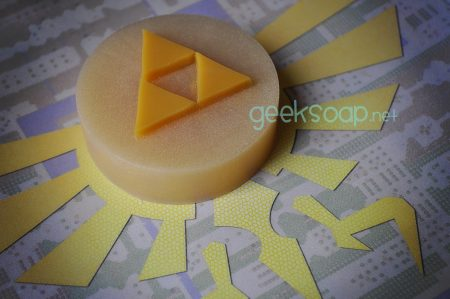 Legend of Zelda triforce geek soap by GEEKSOAP.net