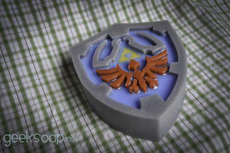 Zelda Hyrule Shield geek soap by GEEKSOAP.net