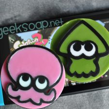 pink and green inkling octoling Splatoon geeky soap by GEEKSOAP.net