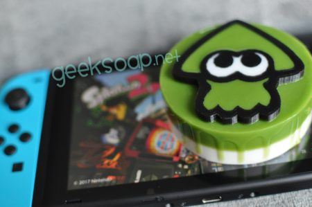 green inkling Splatoon geeky soap by GEEKSOAP.net